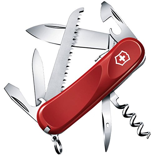 Victorinox Taschenmesser Evolution S13 (14 Funktionen, Feststellklinge, Schraubendreher) rot