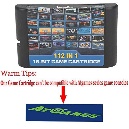 112 en 1 pour la cartouche de jeu Sega Megadrive Genesis comprend Contra Gunstar Heroes