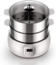 DIAOD Mini Double-layer Electric Steamer Fully Automatic Household Stainless Steel Electric Steamer Food Warmer