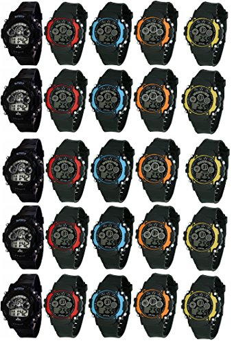 LEMONADE Pack of 25 Unisex Multifuntion Digital Sports Band Wrist Watch for Boy's and Girl's - Best Birthday Return Gift for Kids