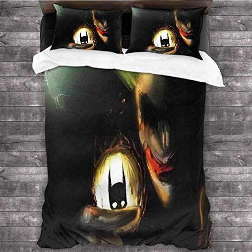 Dearest-Love Soft Warm Joker tosing Batman 4k Pop 78x78 INCH Three-Piece Bed Sheet Set