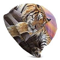 動物 虎柄 ニットキャップ 医療用帽子 室内帽 シンプル オシャレ 柔らかい 薄手 メンズ レディース 春 夏 秋 冬