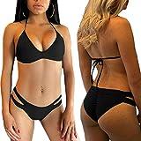 Bikini IBHT del bikiní, las mujeres del verano atractivo caliente del bikini establece dos piezas huecas de salida braga y sujetador empuja hacia arriba traje de baño femenino atractivo del traje de b