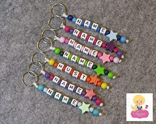 Schlüsselanhänger mit Namen Gravur - Buchstabenwürfel individuell gestalten - Geschenk - Glücksbringer