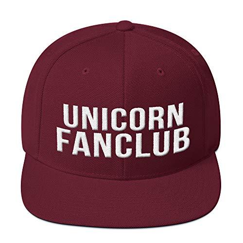 PlimPlom Unicorn Fanclub Einhorn Snapback Kappe Baseball Cap Cooles Design Gestickt Für Damen und Herren