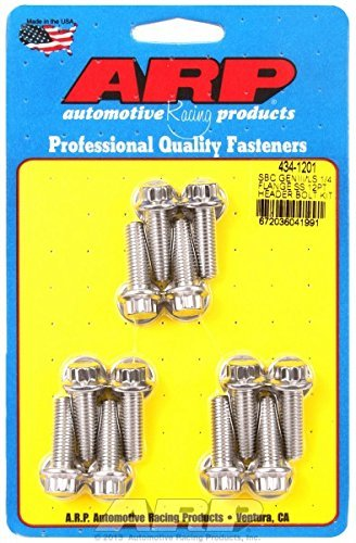 ARP 434-1201 Stainless Steel Header Bolt Kit