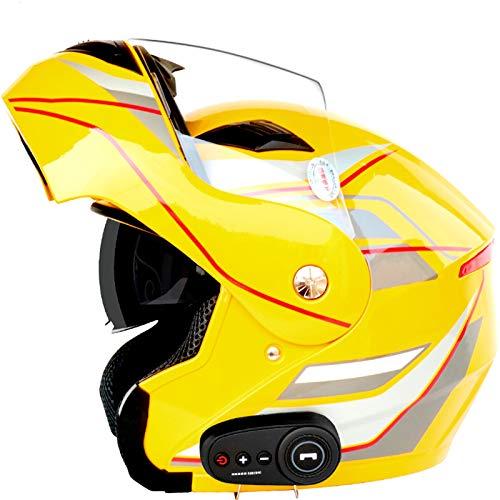 Casco delantero abatible para motocicleta, doble visera solar, casco modular de seguridad, unisex, con K10 5.0 Bluetooth F-XX-XL