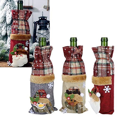 Surebuy Bolsa de Botella de Vino, Cubierta de Botella de champán inspira una Sonrisa para decoración de Bodas para decoración navideña