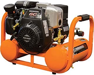 Industrial Air Contractor Pontoon Air Compressor with Honda OHC Engine - 4 Gallon, 155 PSI