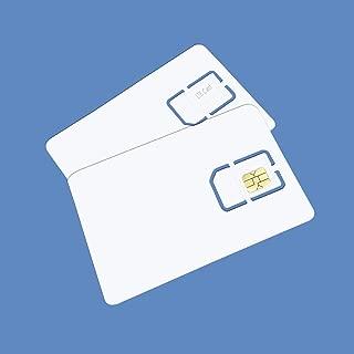 Blank SIM USIM Card 4G LTE WCDMA GSM Nano Micro SIM Card 2FF 3FF 4FF Writable Programmable for Telecom Operator (2 Pcs)