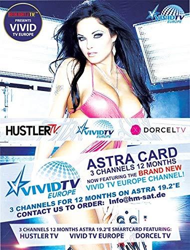Redlight Hustler TV/Dorcel TV/Vivid TV Astra 19,2° Karte Laufzeit 1 Jahr & Viaccess Modul
