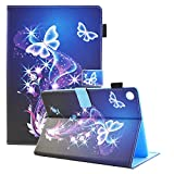Huawei MediaPad M5 10.8 Case, Dteck Slim Fit Premium PU Leather Case with Auto Wake/Sleep Feature Smart Stand Cover for Huawei MediaPad M5 10.8 Inch 2018 Tablet, Purple Butterfly