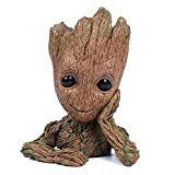 Baby Groot Succulent Planter, NUOKEXIN Groot Action Figures Flowerpot Guardians of The Galaxy Baby Cute Model Toy Pen Pencil Holder PVC Plant Holder Creative Decoration Gifts