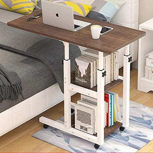 Mesa de trabajo con marco de escritorio para computadora, altura ajustable, escritorio para juegos, estaciones de trabajo para computadora, para soporte de computadora, mesa de noche plegable de escri
