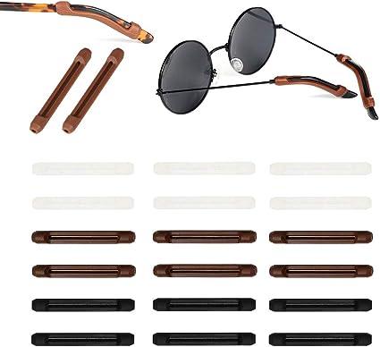 20PPcs Eyeglass Temple Tip Hülse Retainer Anti Rutsch Halter Brille
