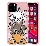 ZhuoFan Funda para iPhone 12 / iPhone 12 Pro 6.1'', Carcasa de Polvo Silicona Case Protección de Cuerpo Completo Suave TPU Protectora Antichoque Bumper Cover para & Movil Fundas - Gato 9
