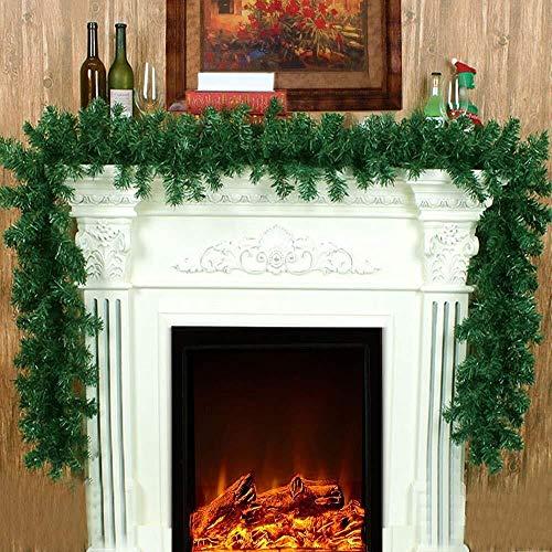 Wjf Kerst Garland Decoratie Victoriaanse Stijl Binnen Lange groene dennen slingers Xmas feestelijk voor trap open haarden