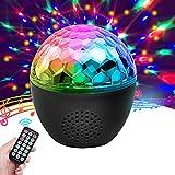 Discokugel, NINECY Partylicht 16 Farbe Musikgesteuert, Kabelloses Discolicht mit bluetooth Lautsprecher/Fernbedienung/Nachtlicht Modus für Kinder, Weihnachten, Disco Party Deko