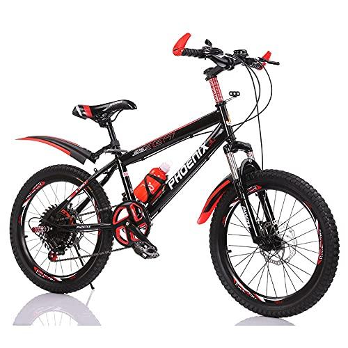 Axdwfd Infantiles Bicicletas 18'20' Bicicleta al Aire Libre para niños, para 7-14 años, niños y niñas, 3 Colores, 3 Colores. (Color : Red, Size : 20in)