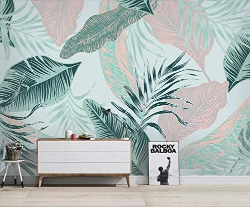Wallpaper Minimalist Abstract Lines Tropical Leaves Living Room Bedroom Background Wall Decoration Wallpaper-About 150105cm