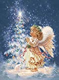 NA Adult Jigsaw Puzzle 1000 Piece Wooden Puzzle Little Girl Angel and Christmas Tree for Teenagers and Adults,Very Good Educational Game(D424)