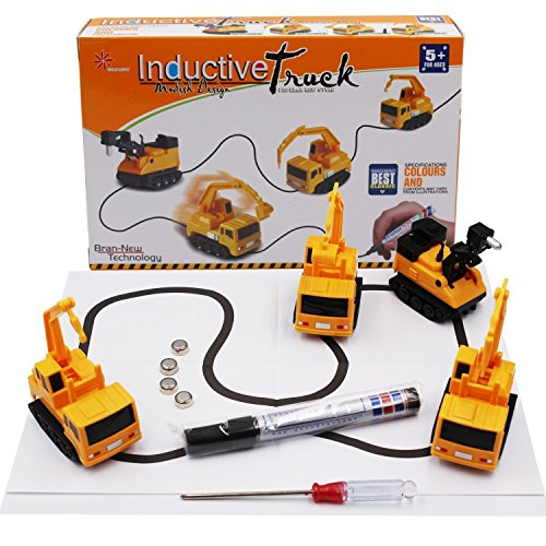 VintageⅢ Induktiver Lkw folgt schwarzem Line Magic Toy Car ,Induktive Auto Spielzeug Set für Kinder