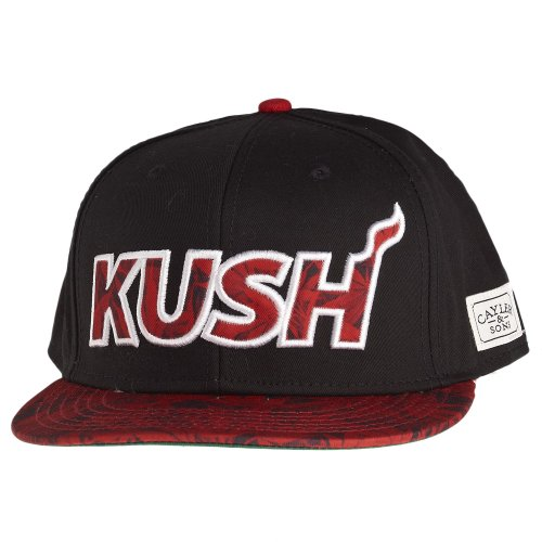 Cayler And Sons - Casquette Snapback Homme On Fire Cap - Black/White/Leaves/Red