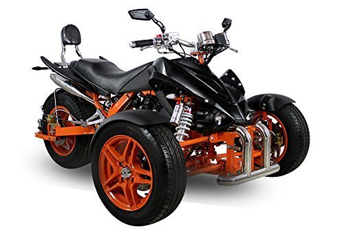 Nitro Motors AUFGEBAUT EEC Spy Prime Trike ST14 350cc 2 Pers. Autobahn Zulassung 6-Gang Manuell + Rückwärtsgang Quad ATV Bike (Metallic Blau mit Schwarzen Akzenten)