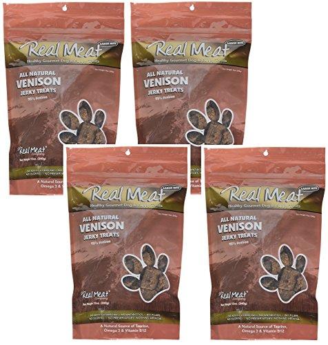 Real Meat Venison Jerky Dog Treats 12oz Pack of 4