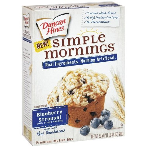 Duncan Opening large release sale Hines Simple Mornings New mail order Whole Blueberry Muff Streusel Grain