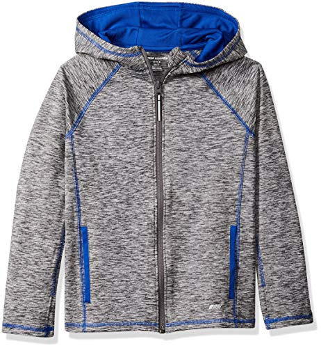 Amazon Essentials Jungen Full-Zip Active Jacket Jacke, Grau (Grey Spacedye), L