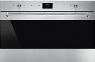 SMEG SF9300GGVX1 90CM Classic Stainless Steel And Black Eclipse Glass Extra-volume Full Gas Oven Energy Rating: A - 1 Year...