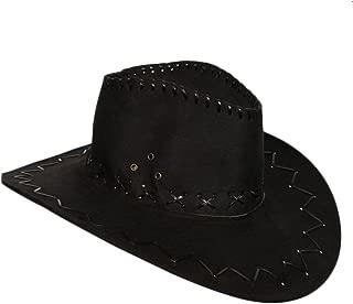 Cappello da cowboy marrone cerata vera pelle Texas Aussie Stile Wild West Costume Unisex