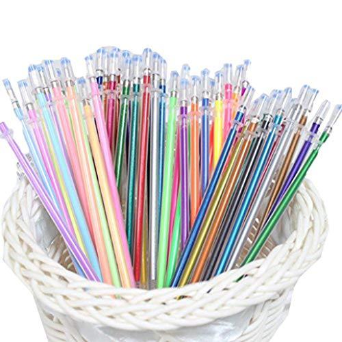 Glitter 48 Gel Pen Refills Neon Fluorescent,40% More Ink than Standard Refills. Non-Toxic, Acid-Free, Lead-Free?48 Gel Pen Refills
