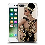 Head Case Designs Unbreakable Woman Gold Queens Soft Gel Case Compatible with Apple iPhone 7 Plus/iPhone 8 Plus