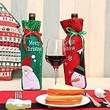 Generic 2er Packung Weihnachtsgeschenkbeutel Weihnachtsdekoration Pailletten Weinbeutel Weinflaschen Dekorative Beutel