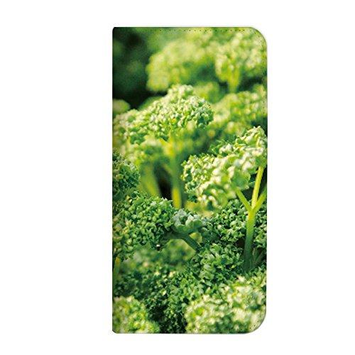 mitas Galaxy S8 SCV36 ケース 手帳型 ベルトなし ハーブ柄 パセリ (341) NB-0131-PA/SCV36