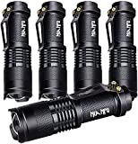 5 Pack SK-68 3 Modes Handheld Mini Cree Q5 LED Flashlight Torch Tactical Lamp 7w...