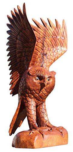 Mooie 40 cm grote uil hout dier grijp vogel kautz UHU uil 29