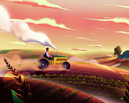 Kpoiuy Rompecabezas De Madera Tractor Campo Arte Agricultura 1000 Piezas Rompecabezas Juegos De Rompecabezas para NiñOs DecoracióN NavideñA 3D