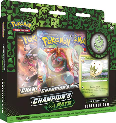 Pokemon TCG: Champion's Path Pin Collection (Turffield, Hulbury, and Motostoke), Multicolor (290-80484)
