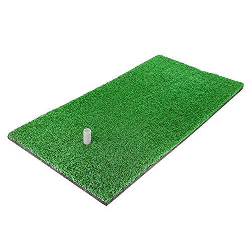 Alfombrillas de golf, alfombrilla de golf, 12 pulgadas y 24 pulgadas, almohadillas de práctica personales portátiles, balones de columpio, equipo de deportes de golf (verde, 60 x 30 cm)