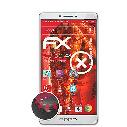 atFolix Schutzfolie kompatibel mit Oppo R7 Plus Folie, entspiegelnde & Flexible FX Bildschirmschutzfolie (3X)