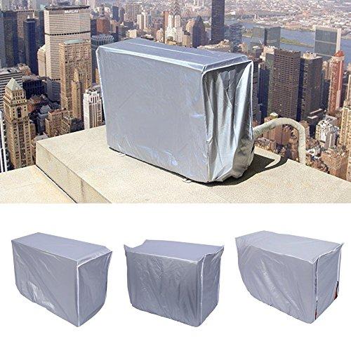 Yosoo Copertura per Condizionatore d'Aria della Finestra Protezione Antipolvere Impermeabile Schermo in Tessuto d'Argento (Dimensione : 94x40x73cm)