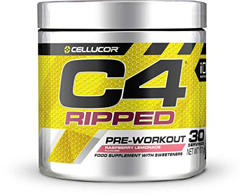 Cellucor C4 Ripped Pre Workout Powder, Raspberry Lemonade, 30 Servings