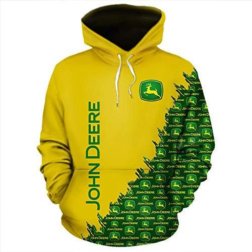 HZKF 3D Printed Sweatshirt ReißverschlussHoodie Männer Top-Rundhalsausschnitt-beiläufige Breath Gelb Langärmelig Trainingsanzug A-XL