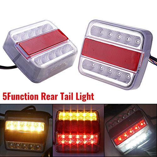 Luci Posteriori per Rimorchio LED 12V Fanali Posteriori per Camion Lampada del Freni Illuminazione Impermeabile Universali per Auto Camion Furgone Caravan Rimorchi