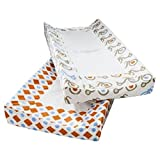 Room 365 First Trike Printed 2 Pack Changing Pad Cover Taupe