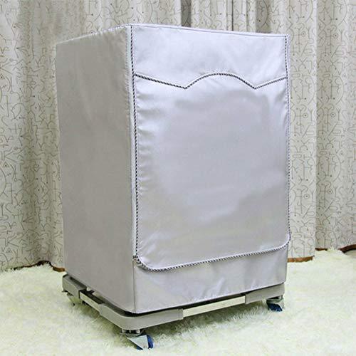 Behavetw - Funda Impermeable para Lavadora Oxford, Resistente, antienvejecimiento, Resistente al Polvo, Protector Solar para Lavadora de Carga Frontal y Secadora, Silver Edge Zip, Large