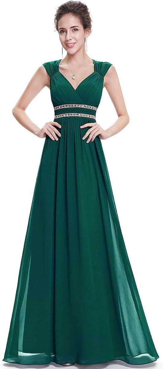 Alisapan Womens Elegant Chiffon Long Formal Evening Prom Bridesmaid Dresses 8697